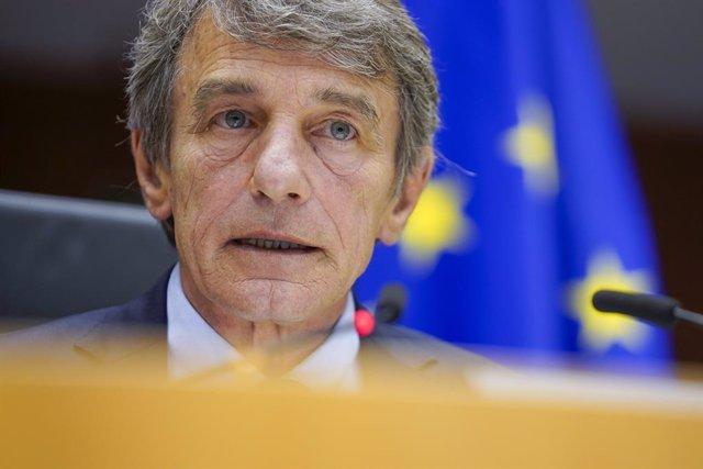 """UE.- Sassoli traslada a los líderes que la Eurocámara no aceptará """"ningún paso a"""