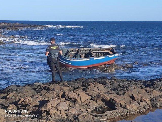 Imagen de archivo de una patera llegada Lanzarote