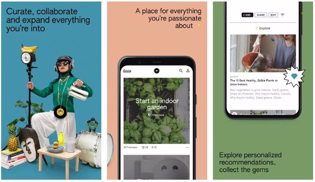 Google lanza Keen, una 'app' similar a Pinterest con Inteligencia Artificial