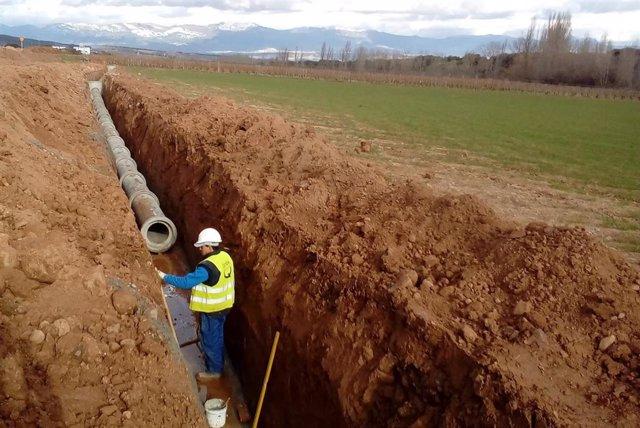 Obras saneamiento y depuración Hornos de Moncalvillo