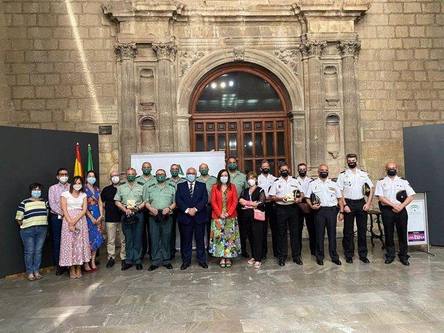 Foto de familia del I Premio de Arquelogía de la Provincia de Jaén