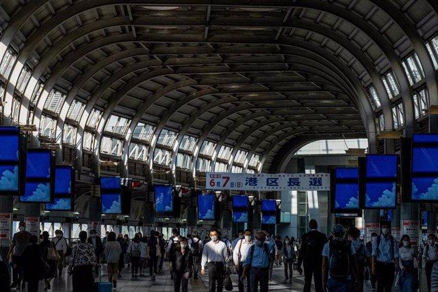 Imagen de archivo de una estación de metro de Japón.