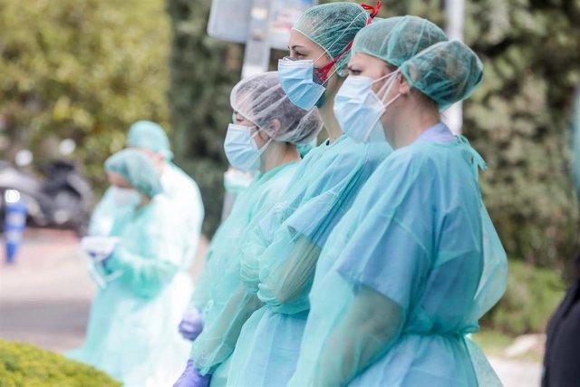 Sanitarios del Hospital Severo Ochoa de Leganés.