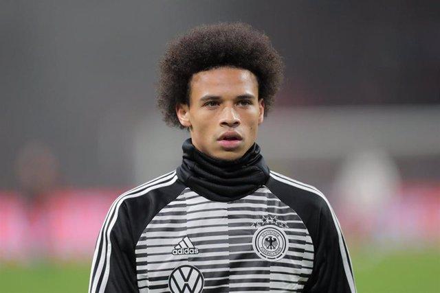 Leroy Sané con la selección de Alemania