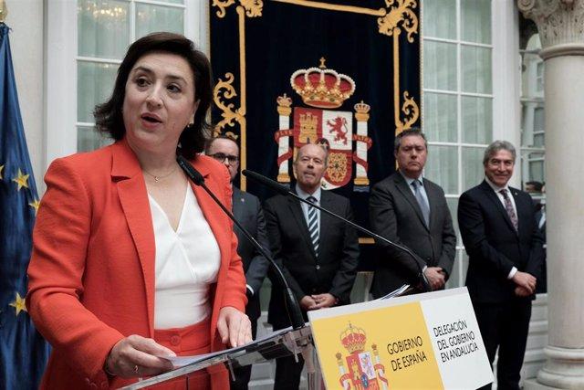 La delegada del Gobierno en Andalucía, Sandra García, en su toma de posesión en una imagen de archivo.
