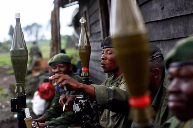 Militares congoleños