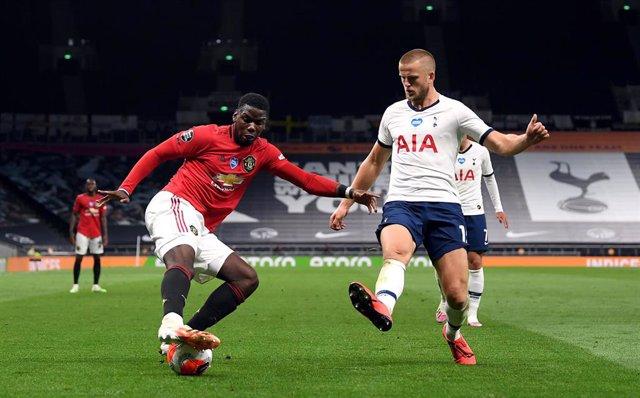 Paul Pogba y Eric Dier en el Tottenham-Manchester United