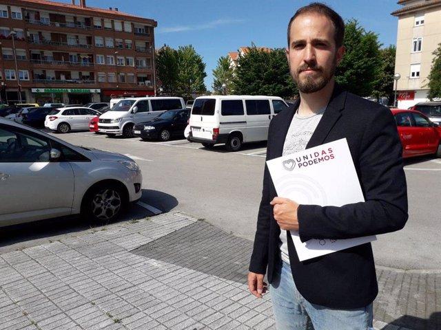 El candidato a la Alcaldía de Santa Cruz de Bezana por Unidas Podemos, Luis del Piñal,