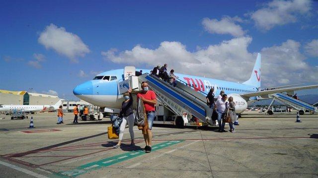 Llegada de turistas a Baleares, a través del Plan Piloto Turismo.