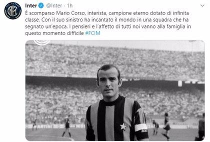 Fallece Mario Corso, histórico jugador del 'Grande Inter' de Helenio Herrera