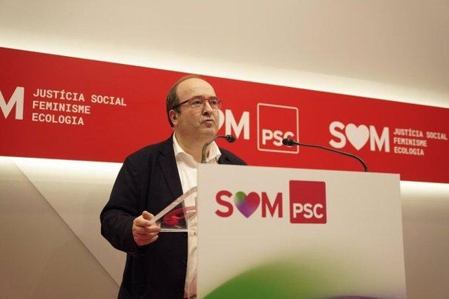El primer secretari del PSC, Miquel Iceta.