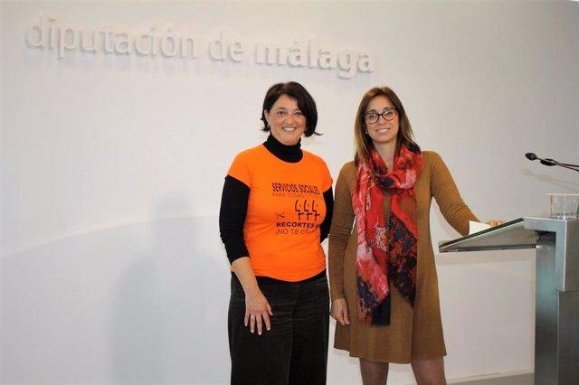 Las diputadas de Adelante Teresa Sánchez y Maribel González en una imagen de archivo
