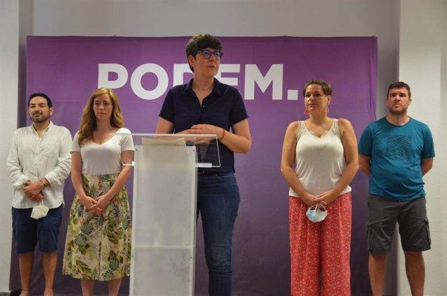 Rueda de prensa de Pilar Lima tras ganar la Asamblea Ciudadana