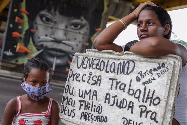 Emigrada venezolana en Brasil