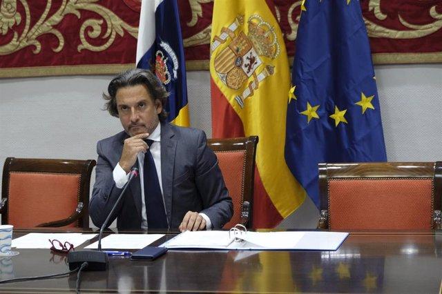 El presidente del Parlamento de Canarias y de la CALRE en 2020, Gustavo Matos