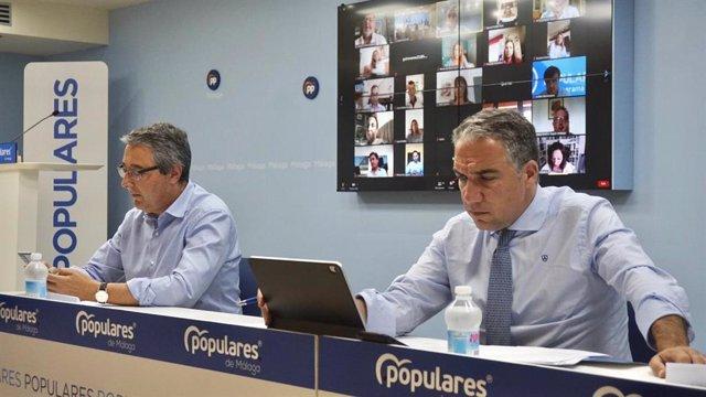 Francisco Salado y Elías Bendodo en la Junta Directiva Provincial del PP