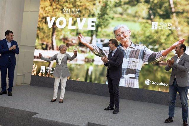 Acto de presentación de la campaña turística 'Galicia volve'