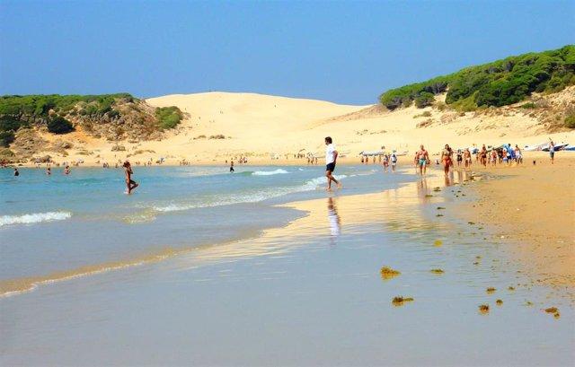 La Playa de Bolonia, en Tarifa (Cádiz)