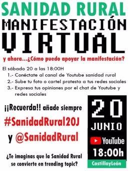 Cartel de la manifestación virtual celebrada este sábado.