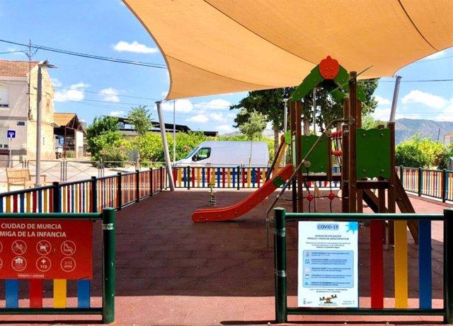 Uno de los parques del municipio de Murcia