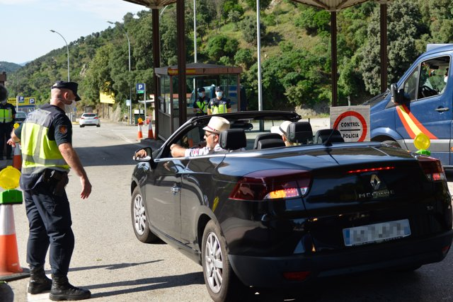 La frontera de La Junquera se reabre tras la finalización del estado de alarma, La Junquera (Gerona/Cataluña/España) a 21 de junio de 2020.