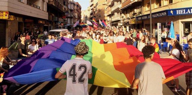 Celebración en Ciudad Real del Orgullo. Imagen de archivo.
