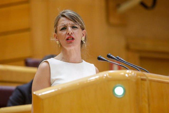 La Ministra de Trabajo y Economía Social, Yolanda Díaz,.