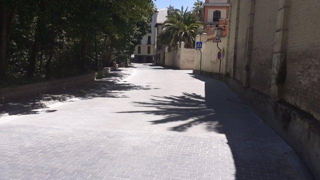 Paseo del Generalife reparado