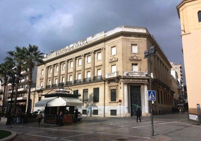 Banco de España en Huelva, en una imagen de archivo