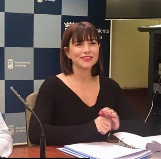 La concejala responsable de Cooperación al Desarrollo y Migración en el Ayuntamiento de Málaga, Ruth Sarabia