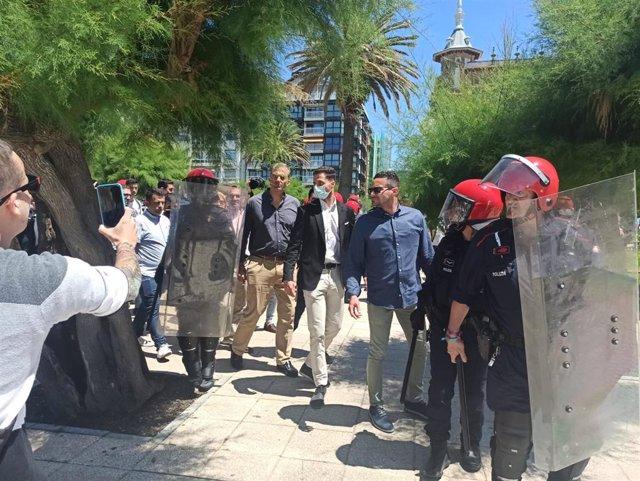 El secretario general de Vox España, Javier Ortega Smith, en San Sebastián