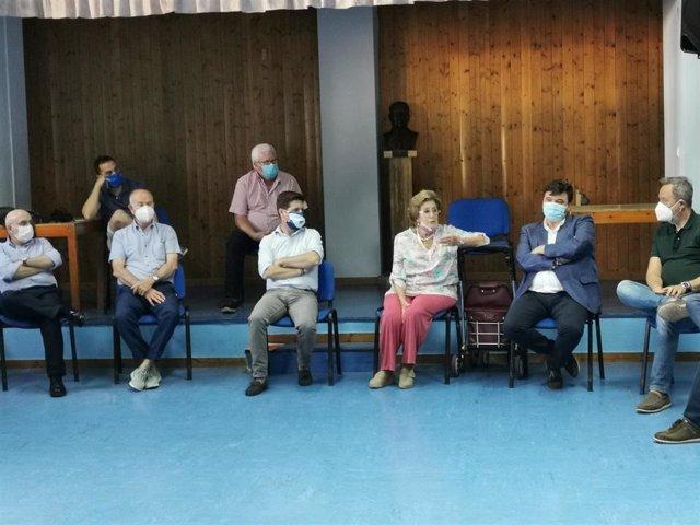 El portavoz del Grupo Municipal de Ciudadanos en Huelva, Guillermo García de Longoria, en la reunión