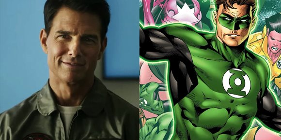 1. Tom Cruise es el nuevo Green Lantern... en este tremendo fan-art