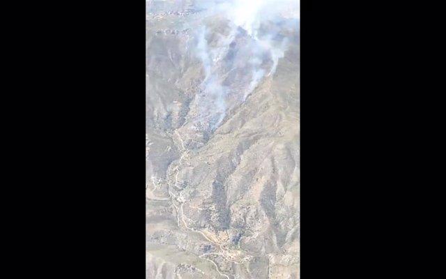 Incendios.- Declarado un incendio forestal en Carboneras (Almería)