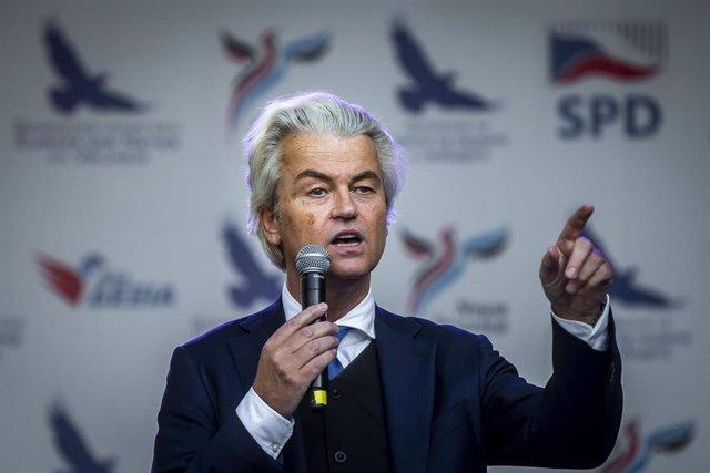 Geert Wilders, líder del Partido de la Libertad (PVV) de ultraderecha en Países Bajos