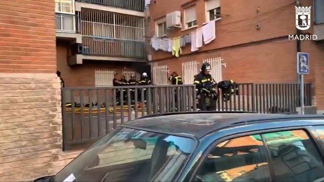 Incendio en una vivienda en la calle Etruria