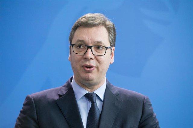 El presidente serbio, Aleksandar Vucic
