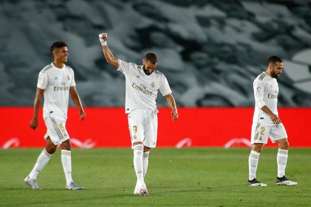 Fútbol/Pichichi.- Benzema sigue acercándose a Messi en el Pichichi