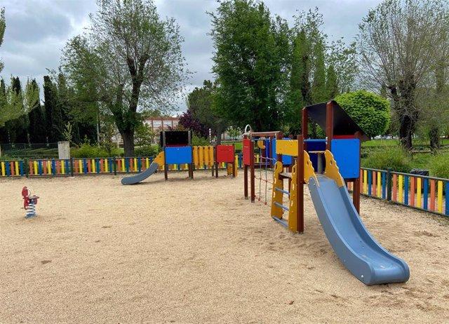 Vista general de un parque infantil de Madrid.