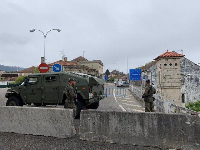 Coronavirus.- La Brilat despliega unidades para apoyar el control fronterizo en el límite de Galicia con Portugal