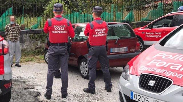 Policía Foral detiene a un hombre por incumplir tres veces las restricciones de movilidad en dos horas