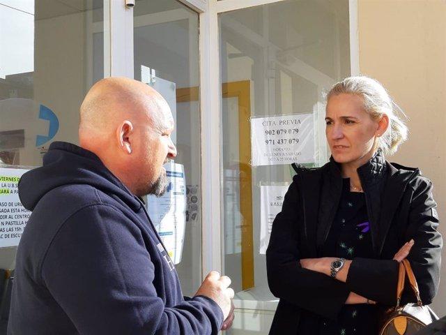 La portavoz de Cs Palma, Eva Pomar, en una visita al barrio de Es Pil·larí el pasado mes de marzo.
