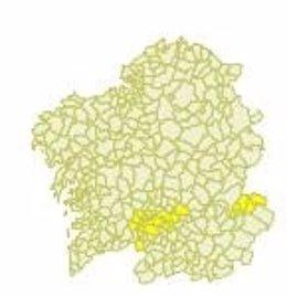 Aviso amarillo por calor en Galicia el 23 de junio de 2020.