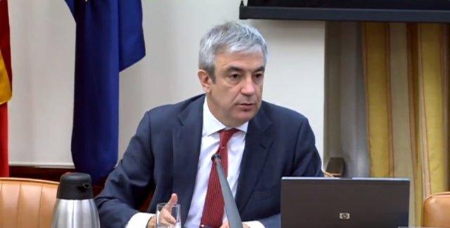 El líder de Ciudadanos en el Parlamento Europeo y vicepresidente económico de Renew Europe, Luis Garicano, compareciendo en el Congreso de los Diputados.