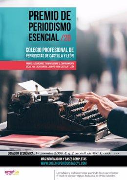 Convocado el premio de 'Periodismo Esencial' del Colegio de CyL para reconocer la labor de calidad durante el COVID-19