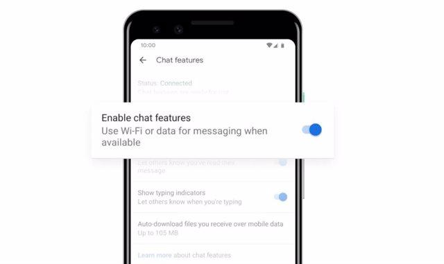 Google permite desvincular el número de teléfono de las funciones de chat de su
