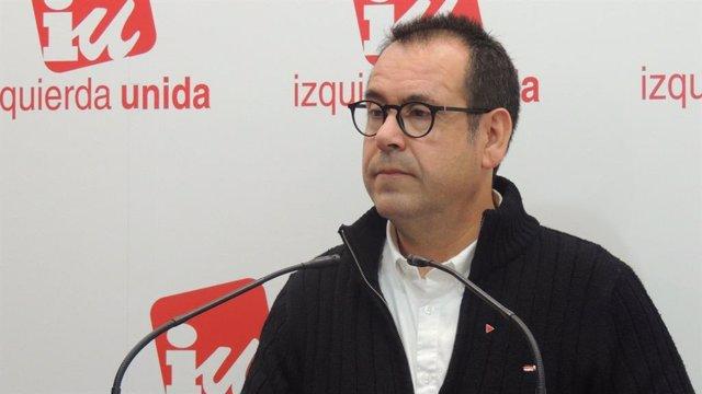 El cordinador regional de IU, Juan Ramón Crespo.