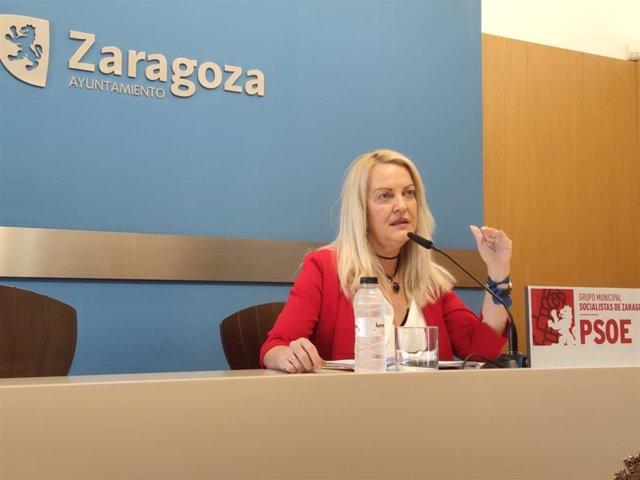 La concejal del grupo municipal del PSOE en el Ayuntamiento de Zaragoza, Ros Cihuelo