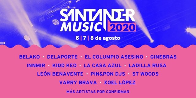 Cartel de Santander Music 2020