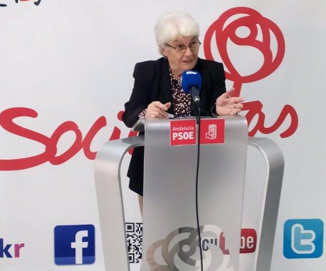La diputada provincial del PSOE Emilia Mañas